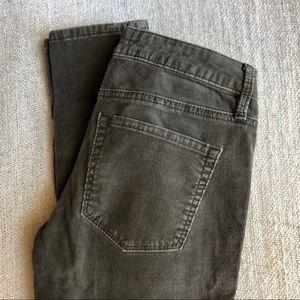 Green Corduroy Skinny Pants